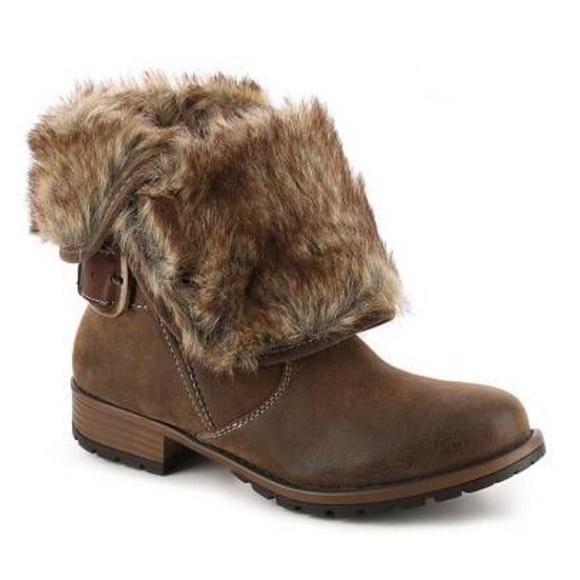 Crown Vintage Distressed Faux Suede Leather Fur